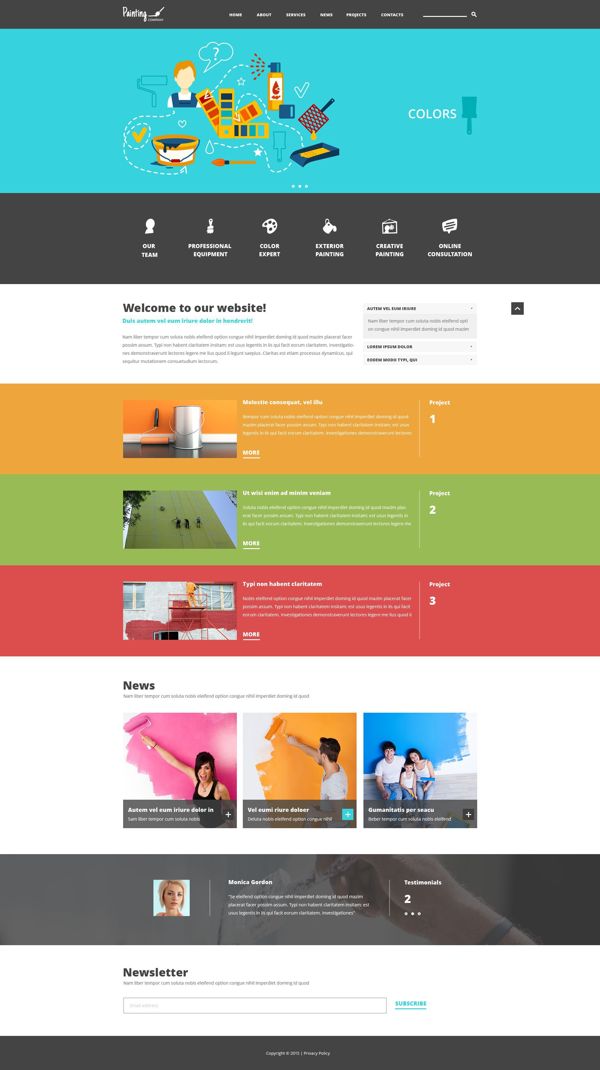 Painting Company Joomla Template | Website Template Flat