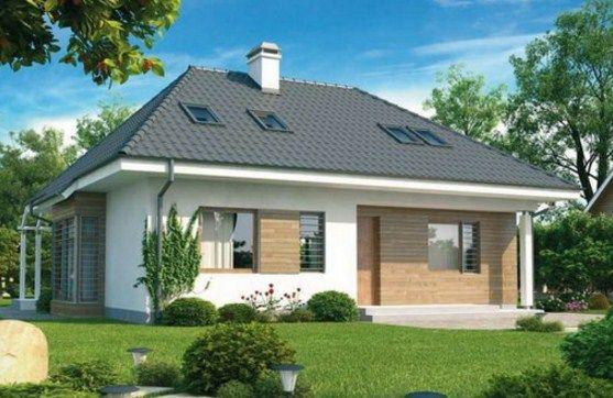 Plano de casa con techo a 4 aguas