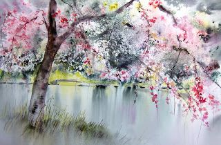 watercolor by Reine Marie Pinchon