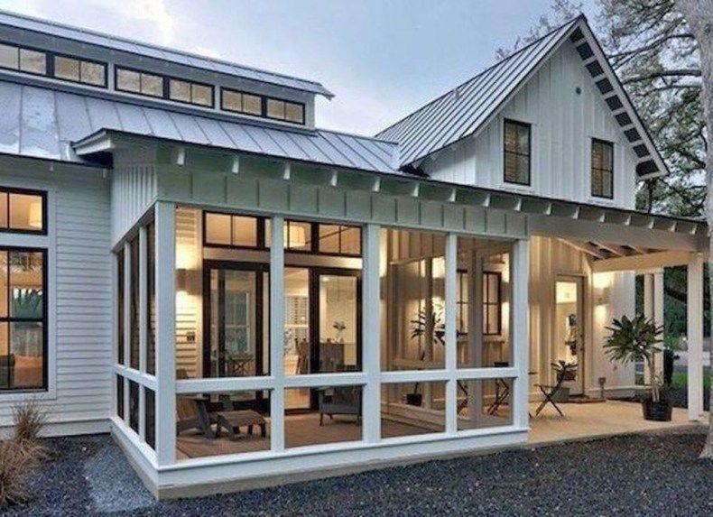 48 Comfy Modern Farmhouse Sunroom Decor Ideas images