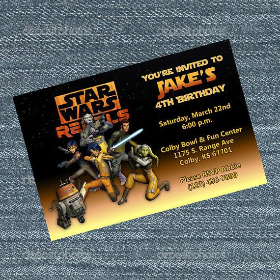 Star Wars Rebels Invitations Personalized By RRCreations123 This Can Be Shipped To You