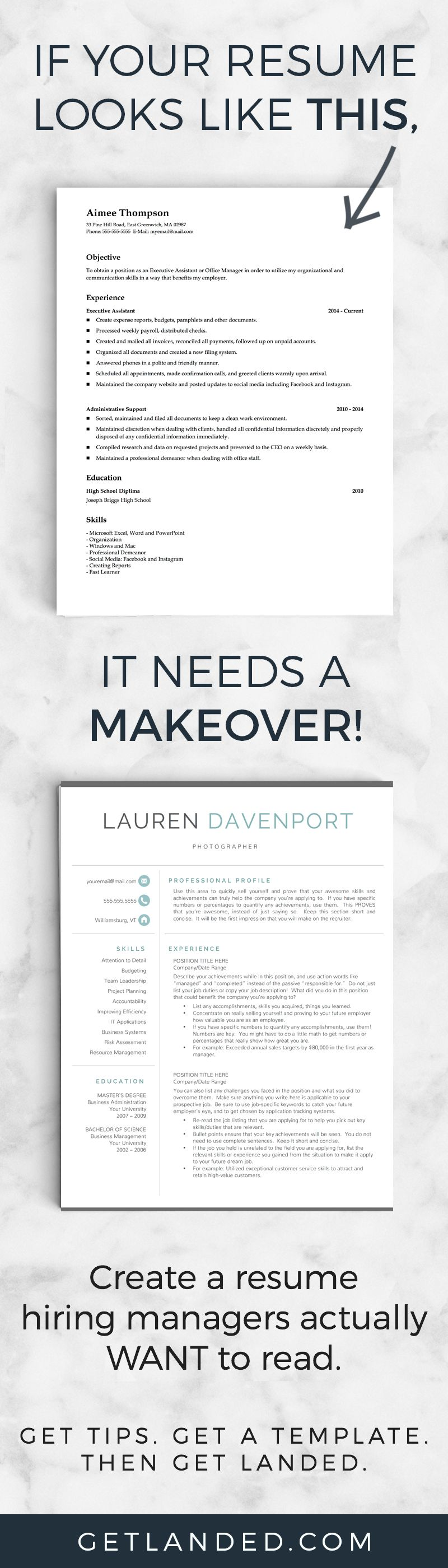 revamp your resume today with a modern resume template