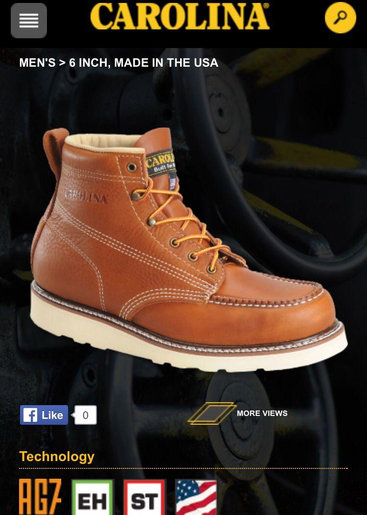1a0388f1e19 Wedge Sole, Moc Toe Work Boot (Carolina) | Shoes | Boots, Timberland ...