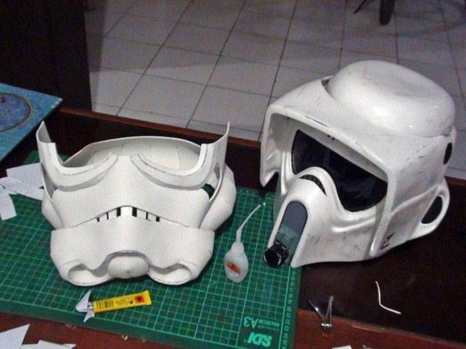 stormtrooper helmet with eva foam pepakura prop maker pinterest helmets pepakura files. Black Bedroom Furniture Sets. Home Design Ideas