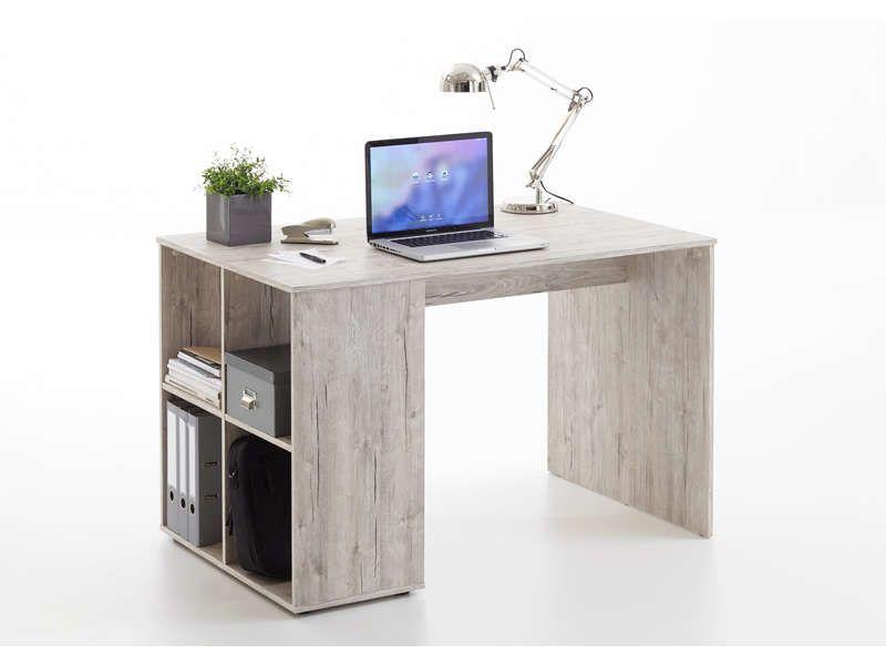Conforama bureau etagere bureau eddy coloris blanc et sonoma