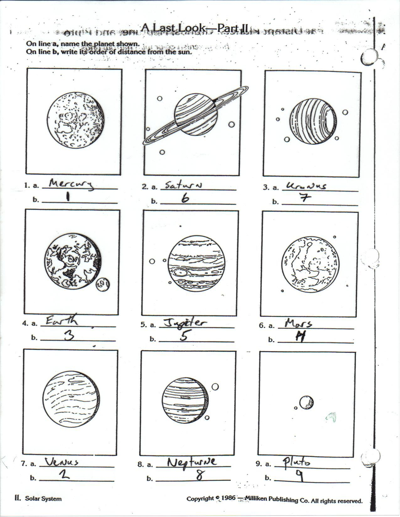planets for kids worksheets Google Search Science – Outer Planets Worksheet