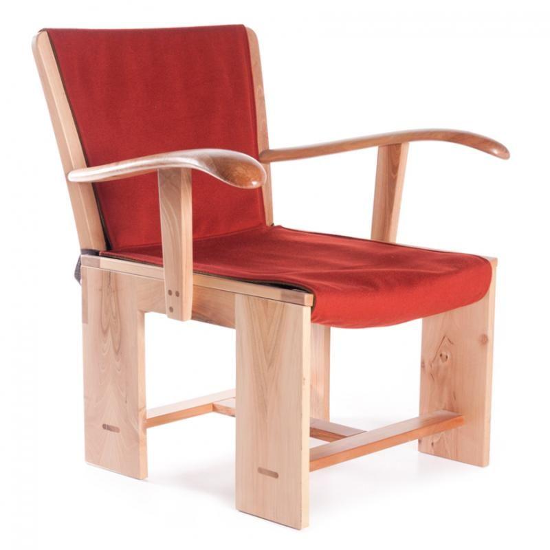 Carlo Bernini; '1934' Walnut Armchair for Bernini, 1977.