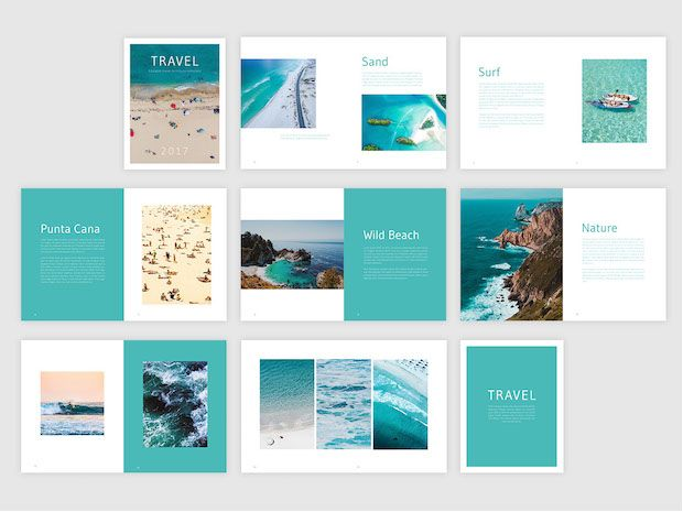 Free Travel Brochure Template Freebies From Flipsnack - Brochures template
