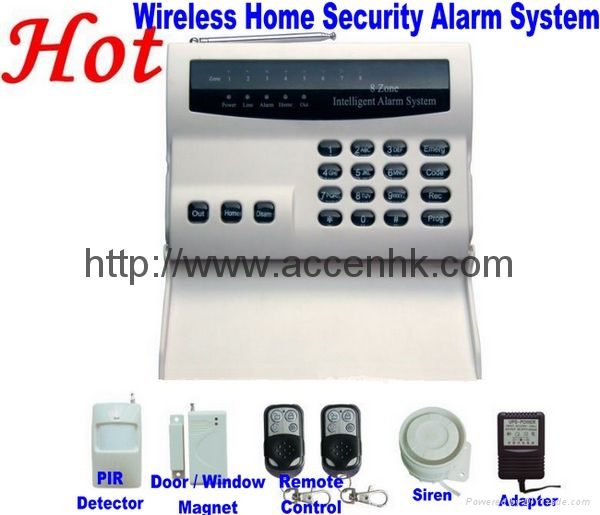 Contact Security: Wireless 8 Zone Intelligent PSTN Telephone Landline Home