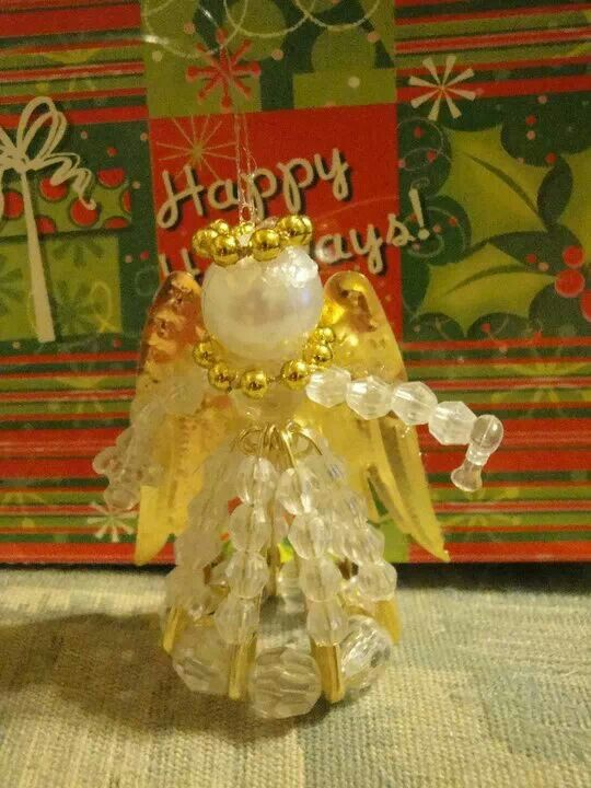 Beaded Christmas Angel Ornament