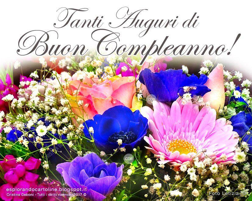 Cartolina Tanti Auguri Di Buon Compleanno Con Immagine