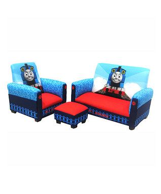 Train Bedroom Decor Seating Thomas Toddler Furniture Playroom