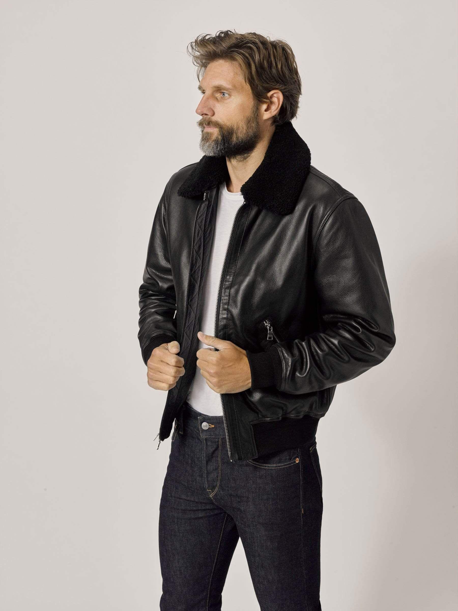 Full Grain Sundown Flight Jacket In 2021 Mens Shearling Jacket Flight Jacket Alex Turner Leather Jacket [ 2400 x 1800 Pixel ]