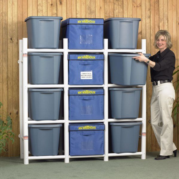 pvc pipe storage rack plans free shipping box organizer pvc storage unit for bins