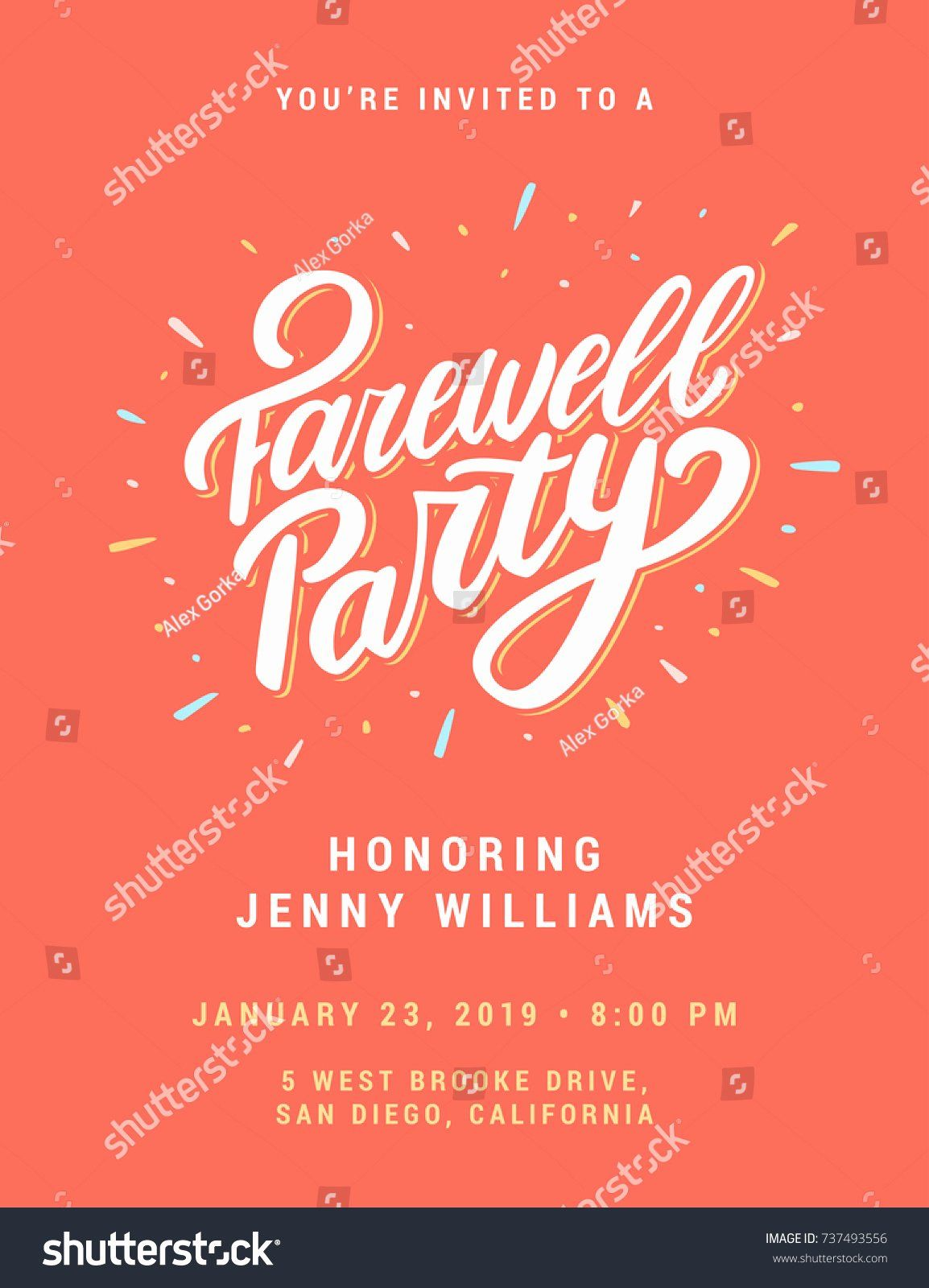 Farewell Invitation Template Free Beautiful Going Away Party Flyer Party Invite Template Farewell Invitation Card Farewell Party Invitations