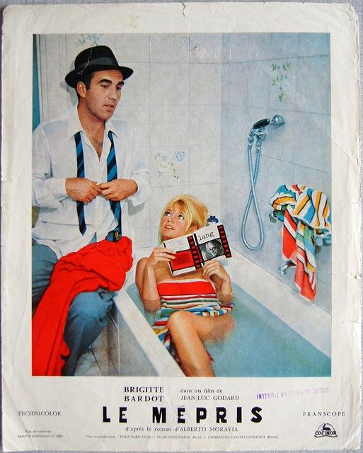 Contempt 1963 Brigitte Bardot Jean Luc Godard French Movies