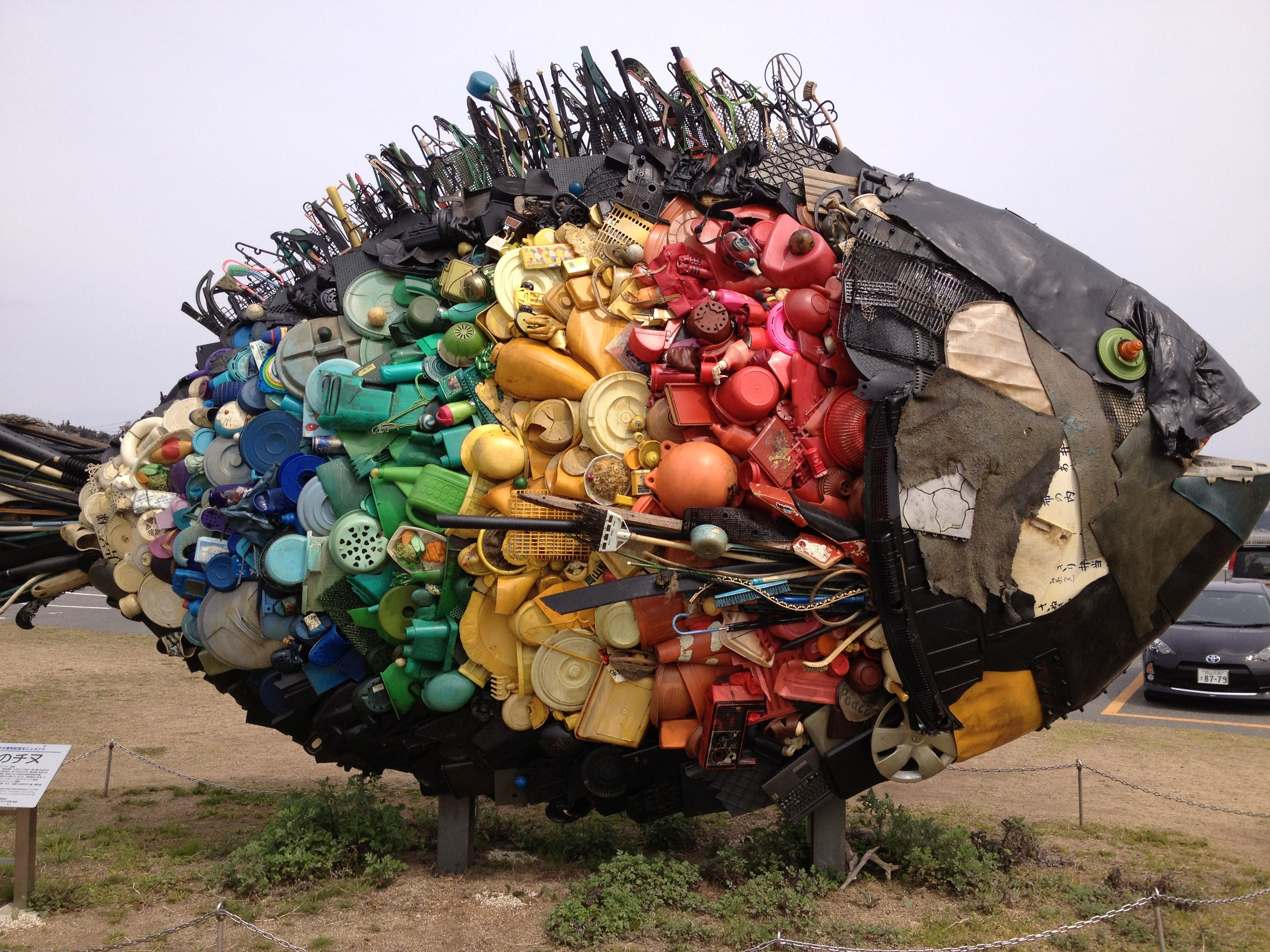 Art made from rubbish google search recycled art for Art made by waste material