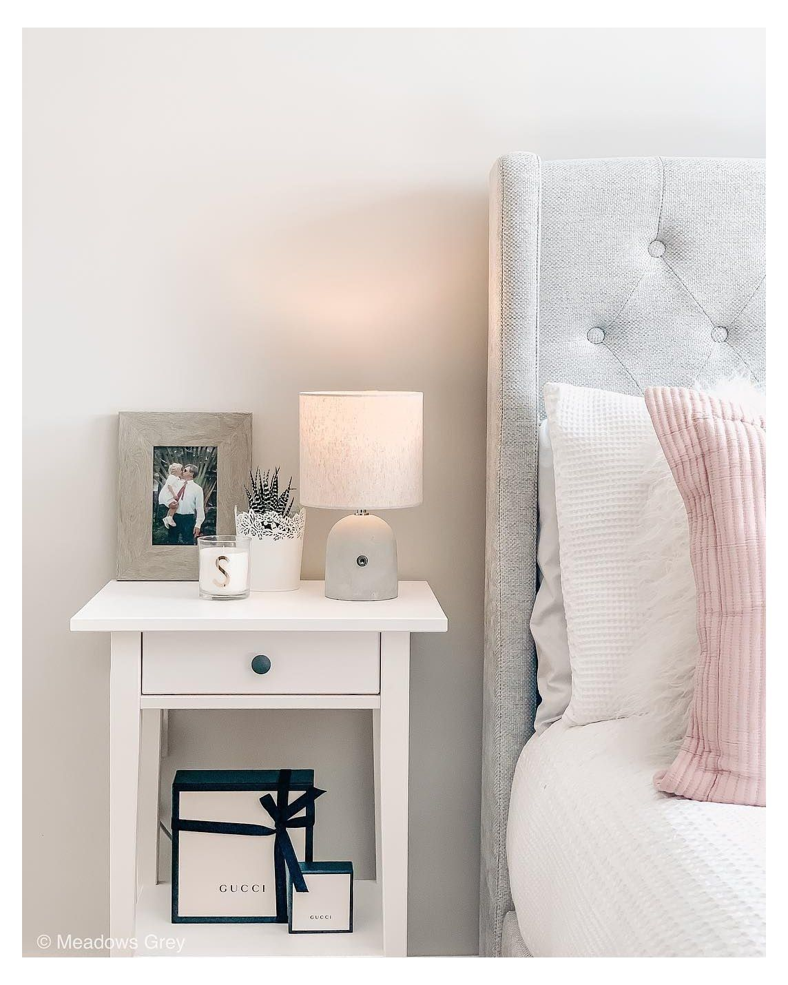 16++ White side table in bedroom cpns 2021