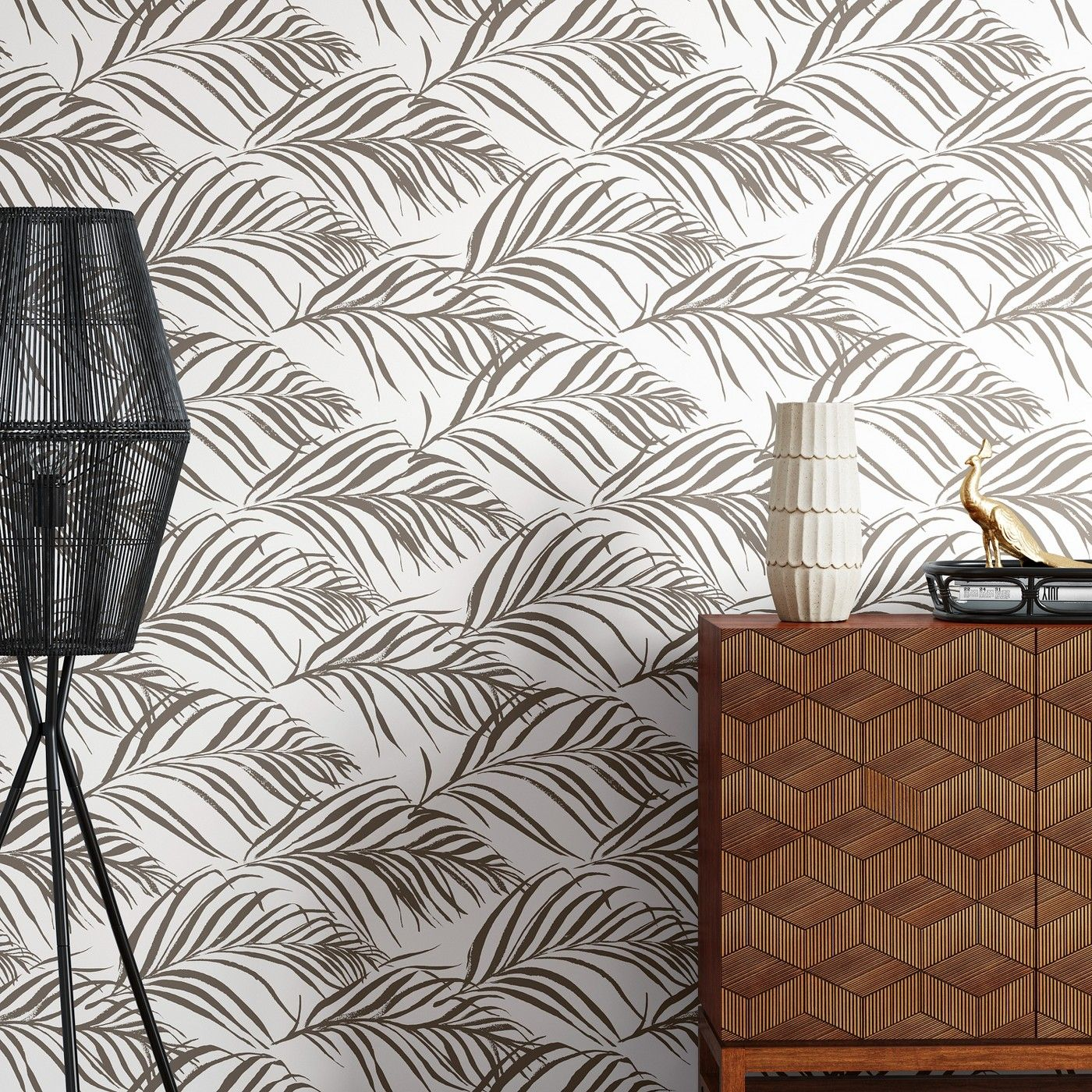 Metallic Palma Peel Stick Wallpaper Silver Opalhouse Opalhouse Removable Wallpaper Print Wallpaper