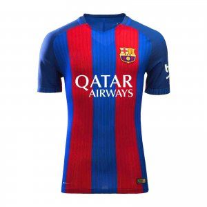 16-17 Football Shirt Barcelona Home With Sponsor Qatar Replica Jersey  D54  9d25576b1