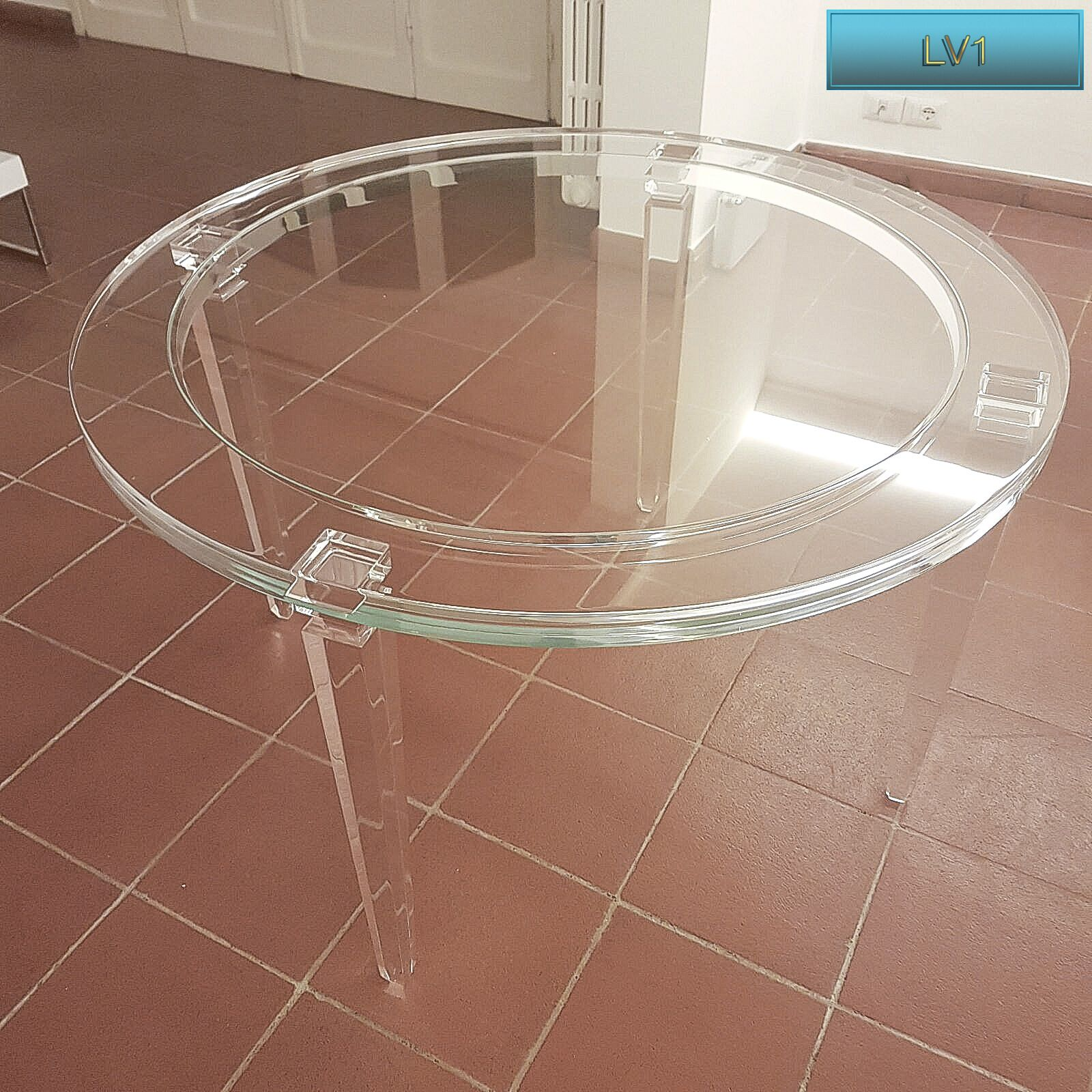Tavolo Tondo Plexiglass.Lucite Acrylic Dining Table Tavoli Pranzo In Plexiglas