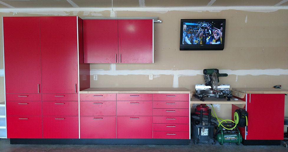 Red Klearvue Garage Cabinets Garage Cabinets Cabinet Home Decor