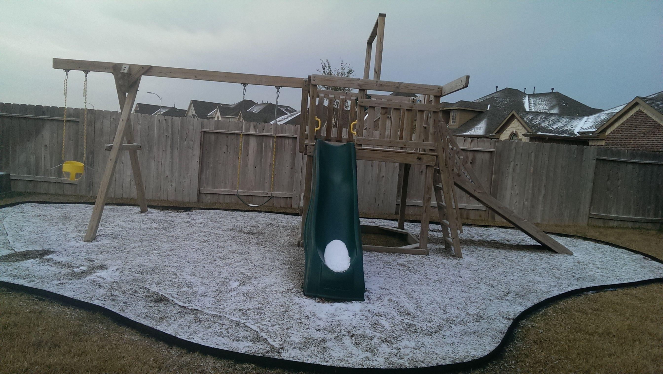 Backyard playground landscaping diy with ecoborder
