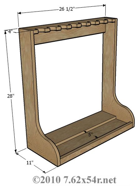 Vertical Wall Gun Rack Plans Plans DIY Free Download