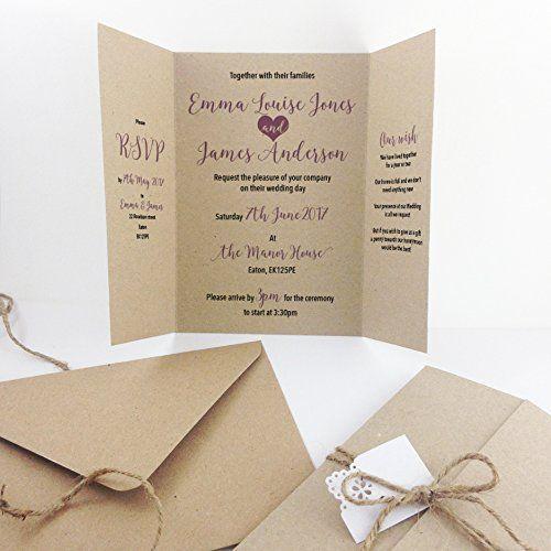 Partecipazioni Matrimonio Amazon.Pin By Vivi Bucciarelli On Partecipazioni Belle Handmade Wedding