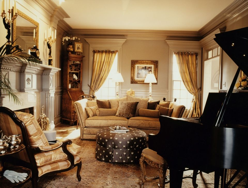 Formal living room with grand piano home pinterest for Piano room decor