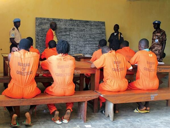Inmates benefit from Adult Literacy Program introduced by the #UN Mission  in #Liberia to