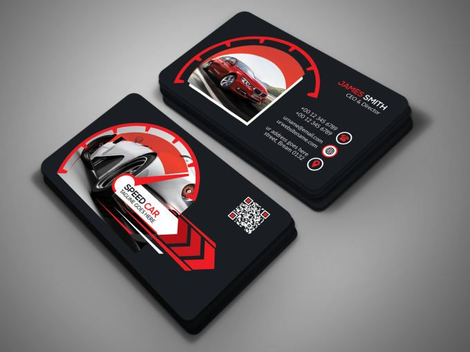 Design Outstanding 2 Sided Business Card In 24 Hr Graphic Design Business Card Business Card Template Design Visiting Card Design