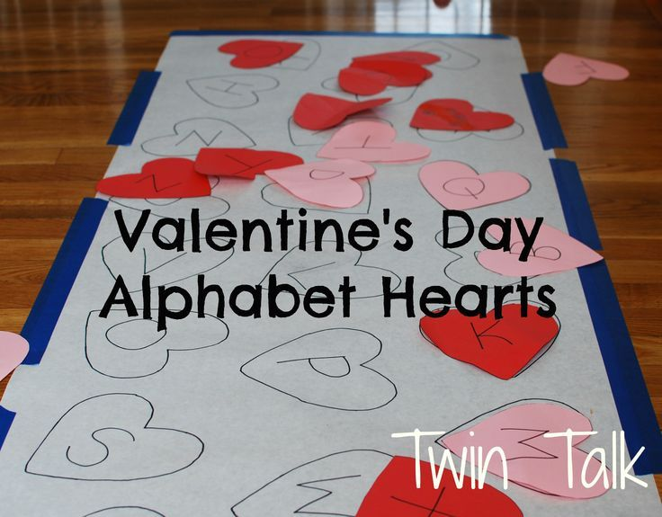 valentine's day alphabet heart matching game - a gross motor skill, Ideas
