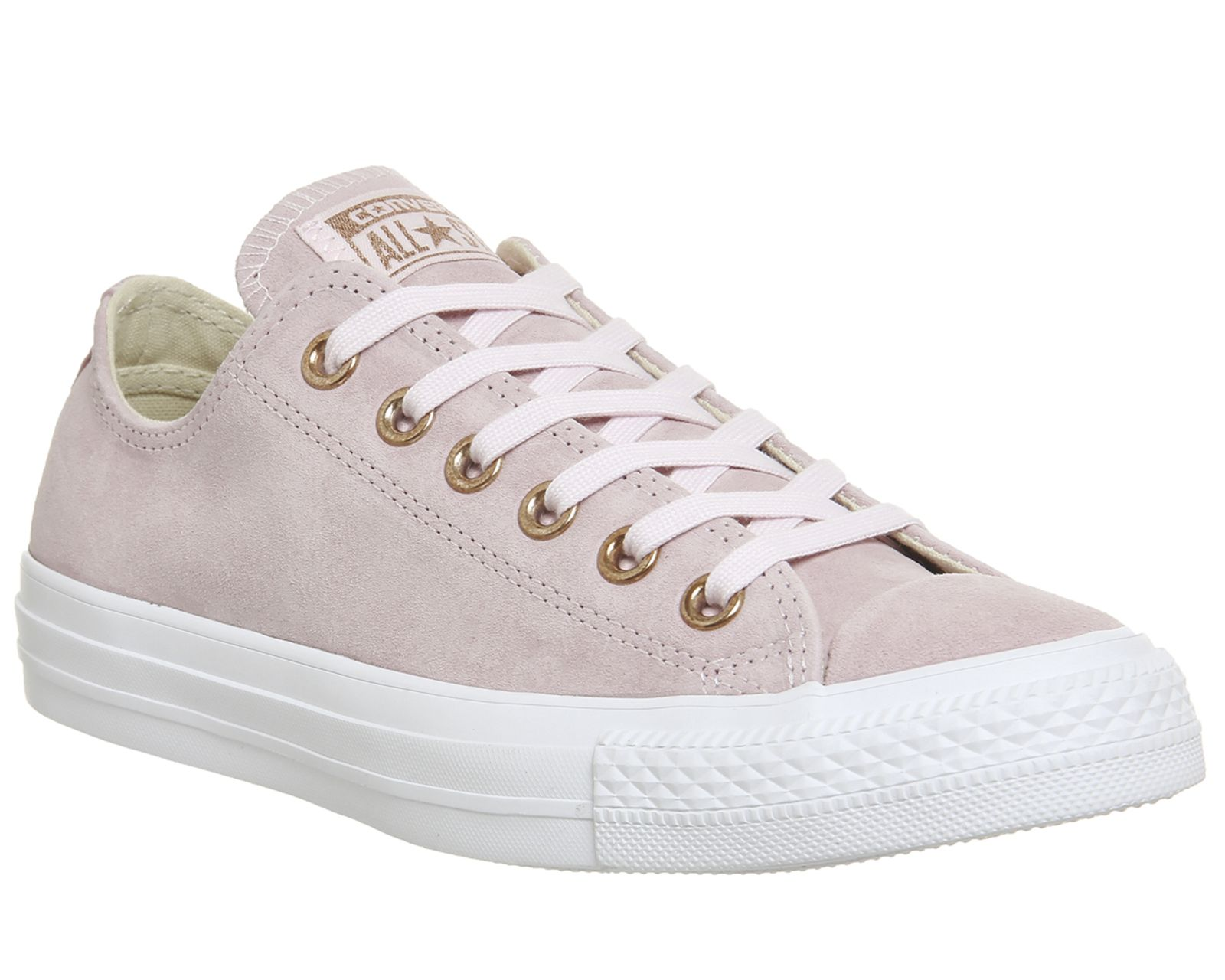 Converse All Star Low Leather Pastel Rose Egret Blush Gold