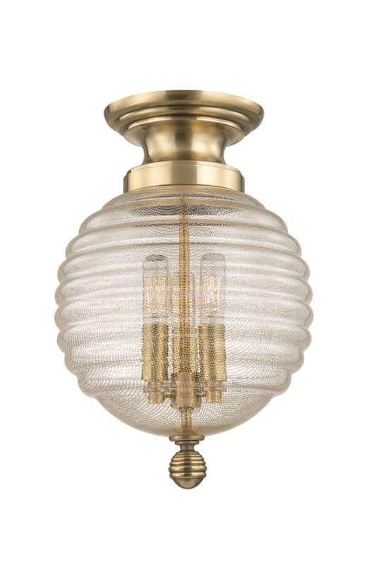 Hudson Valley Lighting 3200 Coolidge 3 Light 14  Flush Mount Ceiling Fixture wit Aged Brass  sc 1 st  Pinterest & Hudson Valley Lighting 3200 Coolidge 3 Light 14