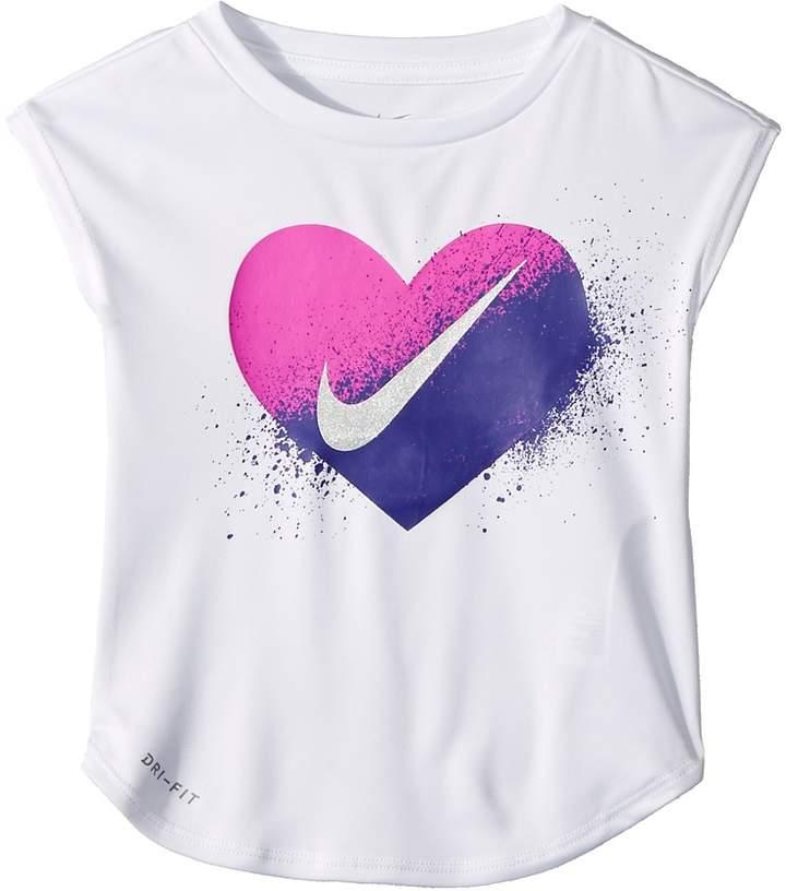 4d2b101f8 Nike Kids - Spray Heart Dri-FIT Modern Tee Girl's T Shirt | Toddler ...