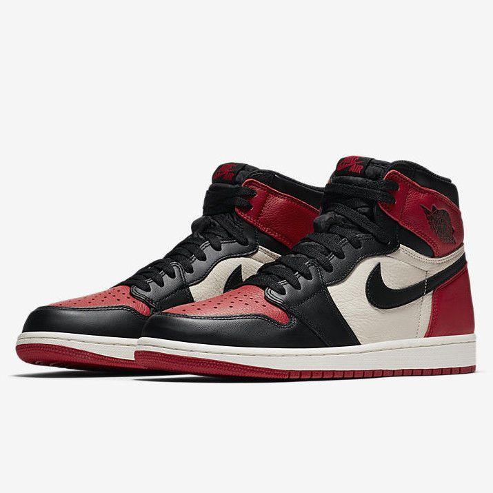 sale retailer f39bb 92382 Nike Air Jordan Retro 1 High OG Size 15 Bred Toe Black Red White  Nike   BasketballShoes