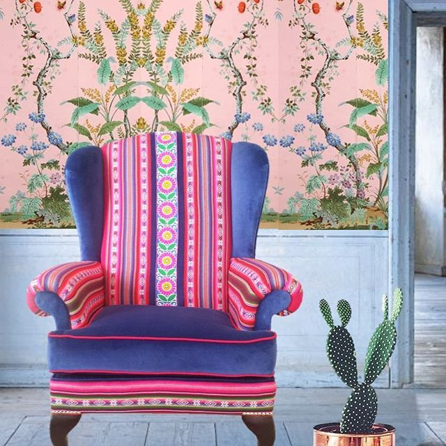 Are you in London? This reupholstered wingback named \