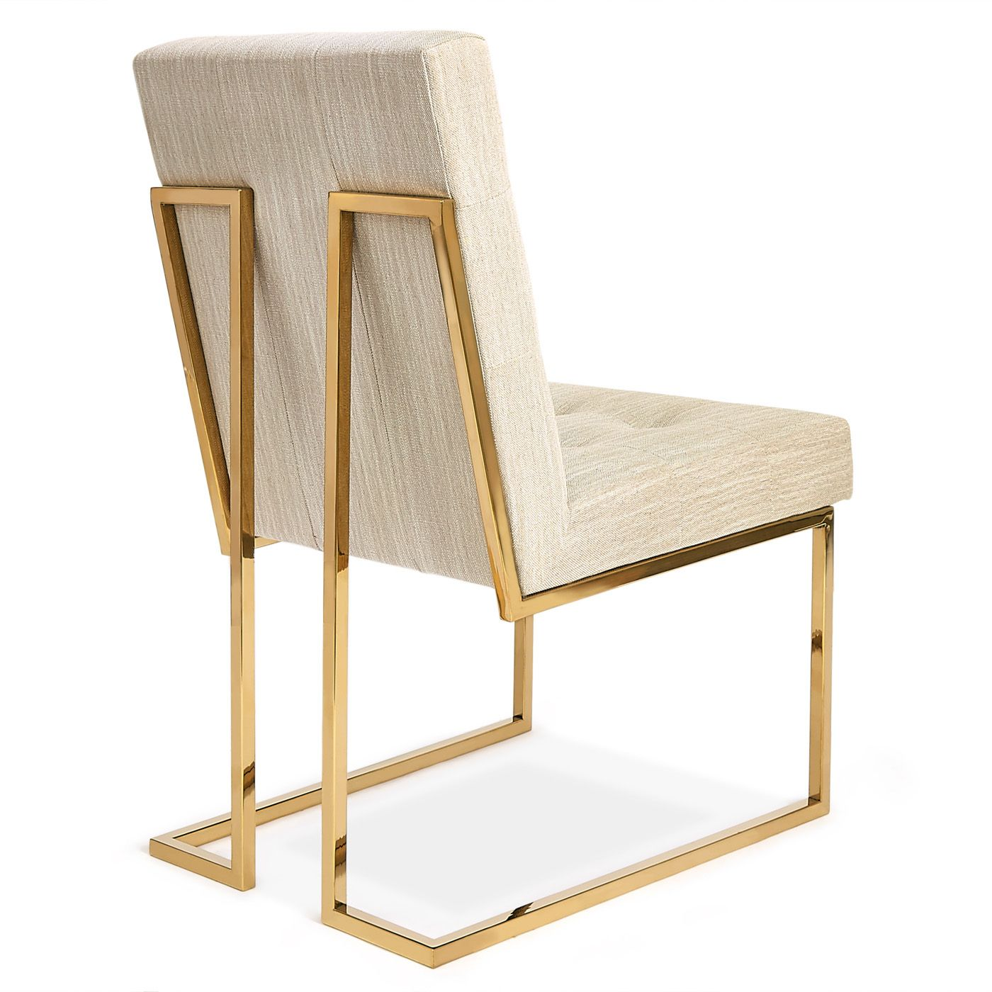 Jonathan Adler Goldfinger Dining Chair is part of Rustic dining furniture - Minimalist Comfort Pared down geometry in polished brass meets swanky Rialto Navy velvet  in our Goldfinger Collection  A little bit '70s, a lot today  Gol
