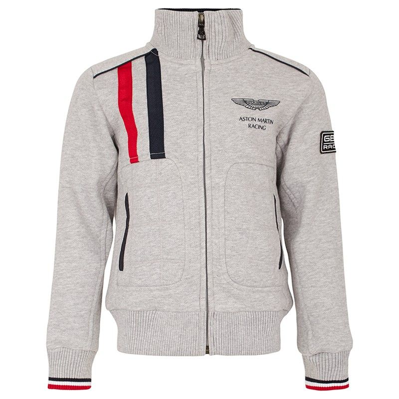 This Gray Red And Navy Aston Martin Racing Full Zip Jacket By
