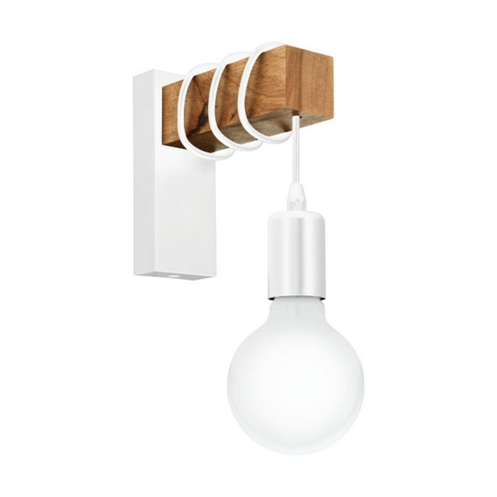 White Wood 1 Light Wall Hanging Pendant Citizen Soak Com Interior Wall Lights Eglo Wall Lights