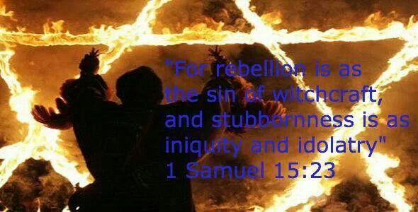 1 Samuel 15:23 KJV~