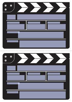 Perfekt /einladung Filmklappe Druckvorlage