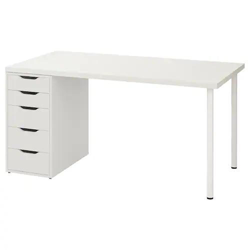 Https Www Ikea Com No No P Linnmon Alex Bord Hvit S39932699 Ikea In 2020 Wall Shelf Unit Ikea Drawer Unit