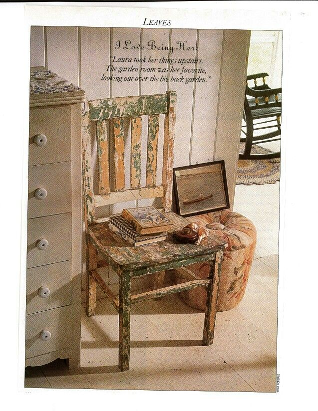 Weathered Charm - from Victoria Magazine 1980's