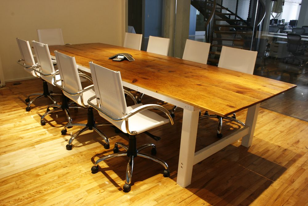 Reclaimed Farmhouse Conference Room Table Conference Room Table Table Custom Furniture