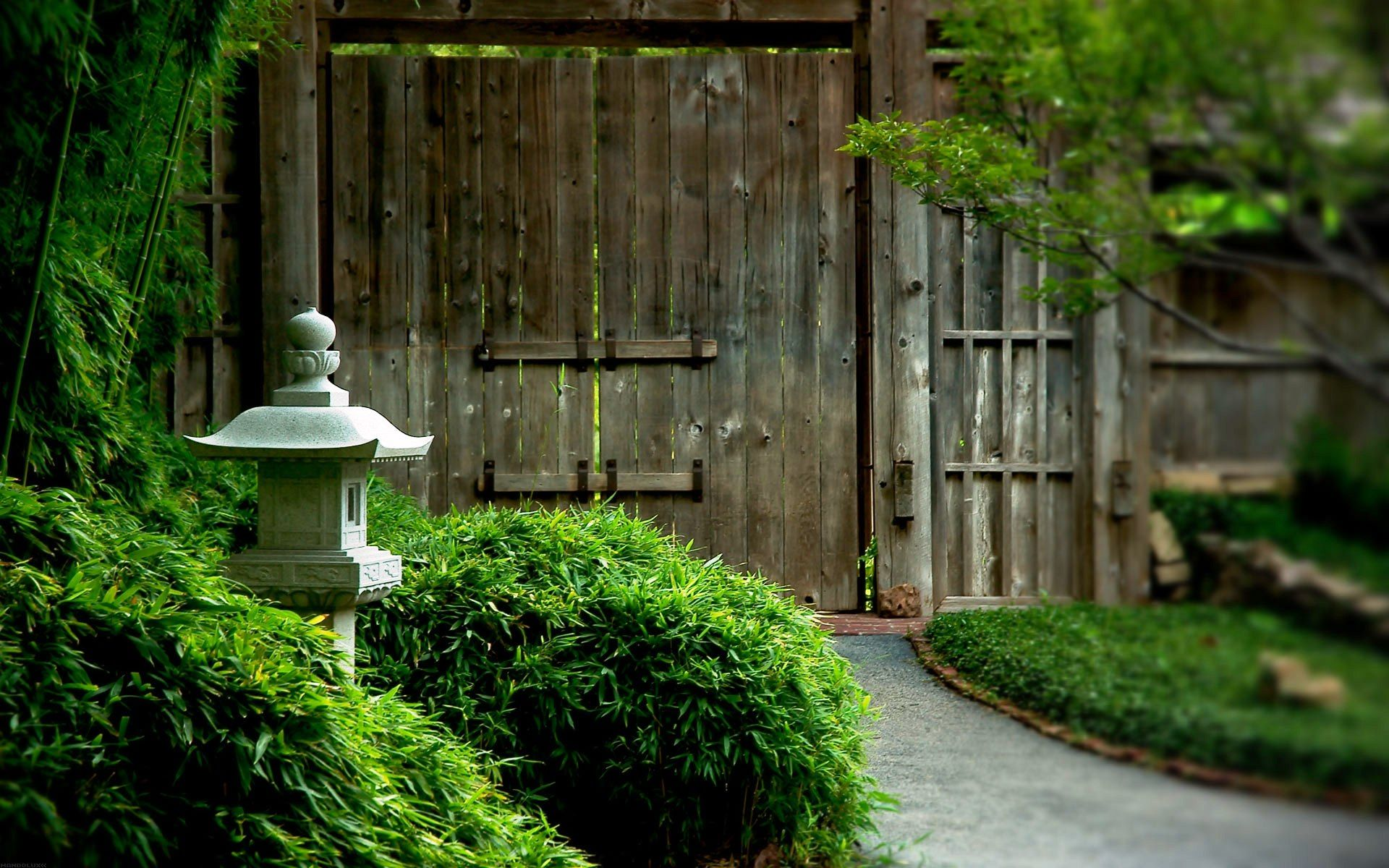 Beautiful Japanese Wooden Gate Widescreen Desktop Mobile Iphone Android Hd Wallpaper And