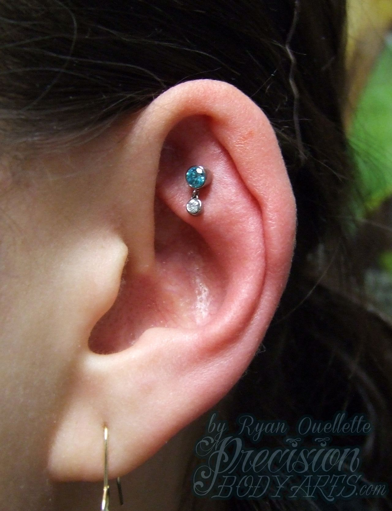 Cute rook piercing jewelry the image for Interieur oreille
