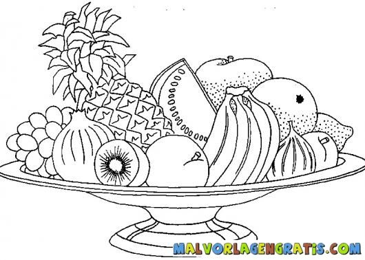 Fruit Coloring Pages Coloring Pages Fruits Drawing
