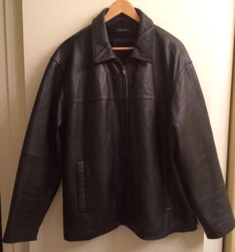 Liz Claiborne Men S Black Pebbled Grain Leather Jacket